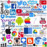 Logotypes των δημοφιλών εμπορικών σημάτων υπολογισμού Στοκ Εικόνα