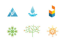Logotypes. Pack of Six Different Logotypes royalty free illustration