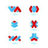 Logotypes. Set of vector templates for logotypes Stock Photography