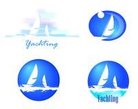 Logotypes avec des yachts Images libres de droits