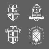 Logotypes de crête Photos stock