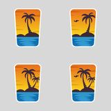 4 in 1 logotypes, de Zomer royalty-vrije illustratie
