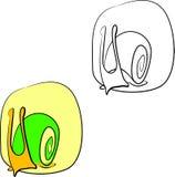 Logotypes della lumaca illustrazione di stock