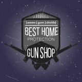 Logotypes e crachás da loja de arma ajustados Imagem de Stock Royalty Free