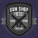 Logotypes e crachás da loja de arma ajustados Foto de Stock