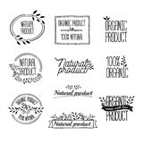 Logotypes set. Badges, labels,ribbons,plants Royalty Free Stock Photography