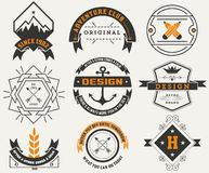 Logotypes set / Vintage Insignias. Royalty Free Stock Photo