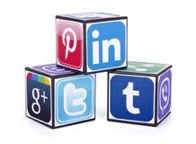Logotypes of social media Stock Photo