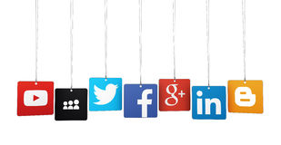 Logotypes sociaux de media Images libres de droits