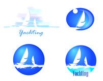 Logotypes with yachts Royalty Free Stock Images