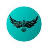 Logotypesilhouet van vliegende adelaar royalty-vrije illustratie