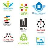 logotyppackemallar Arkivfoto
