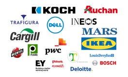 Logotypprivatägda företag vektor illustrationer