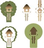 Logotypu drzewo Fotografia Stock