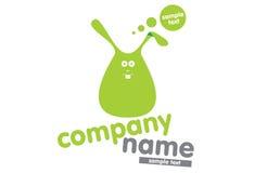 logotypu zielony królik Zdjęcia Royalty Free