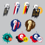 Logouppsättning för organisation för fanklubba eller supporter Royaltyfria Bilder