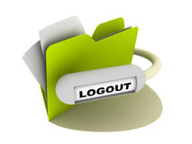 Logout button Stock Photo