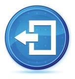 Logout de blauwe eerste ronde knoop van de pictogrammiddernacht vector illustratie