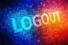 Logout digital screen, Technology background royalty free illustration