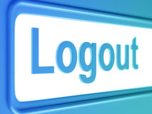 Logout internet blue icon. Royalty Free Stock Images