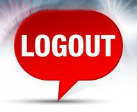 Logout Red Bubble Background stock illustration