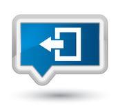 Logout knoop van de pictogram de eerste blauwe banner stock illustratie