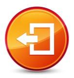 Logout pictogram speciale glazige oranje ronde knoop vector illustratie