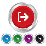 Logout sign icon. Log out symbol. Arrow. Stock Images