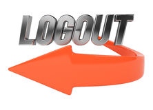 Logout symbol Royalty Free Stock Photo