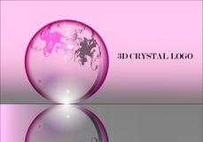 Logovektor 3D Crystal Ball Firmen Lizenzfreie Stockbilder