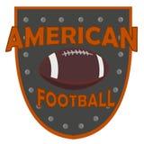 Logovektor för amerikansk fotboll Arkivbild