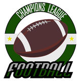Logovektor för amerikansk fotboll Royaltyfri Fotografi