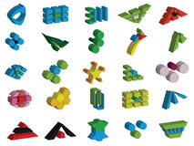 logovektor för element 3d stock illustrationer