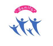 Logovektorillustrator für glücklichen Familientag Stockbild