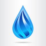 Logowassertropfenzusammenfassungsdesign-Vektorschablone Stockfotografie