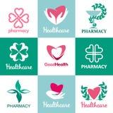 Logowie dla aptek, klinik, medycznego, i zdrowie Zdjęcie Royalty Free