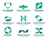 Logowie dla aptek, klinik, medycznego, kosmetyki i zdrowie Zdjęcia Royalty Free