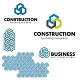 Logowie i projektów elementy dla biznesu buduje, Zdjęcia Stock