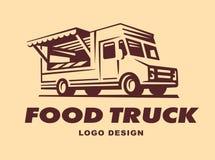 Logowie jedzenie ciężarówka Zdjęcia Stock