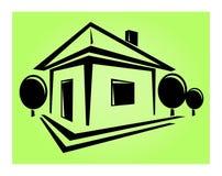 Logowie stwarzają ognisko domowe Zdjęcia Stock