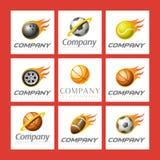 logowie ustawiający sporty royalty ilustracja