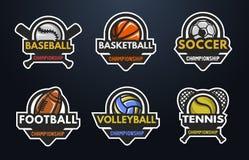 logowie ustawiający sporty Zdjęcia Royalty Free