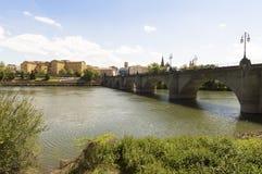 Logroño city, road to Santiago de Compostela, La Rioja Royalty Free Stock Photography