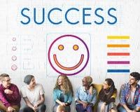 Logro del éxito que gana a Victory Concept Imagenes de archivo
