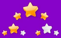 logro llano de 3 estrellas ilustración del vector