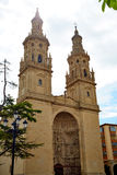 Logrono Cathedral of Santa Maria la Redonda Royalty Free Stock Images