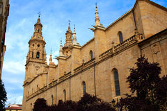 Logrono Cathedral of Santa Maria la Redonda Royalty Free Stock Image