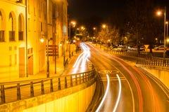 Logrono in der Nacht Lizenzfreie Stockfotografie