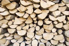 Logs. Trunks of trees cut for firewood Royalty Free Stock Image