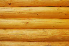 Logs. Of a wooden house Stock Images